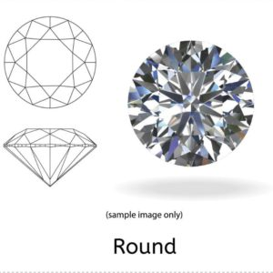 3 Carat Round Diamond VS2/J