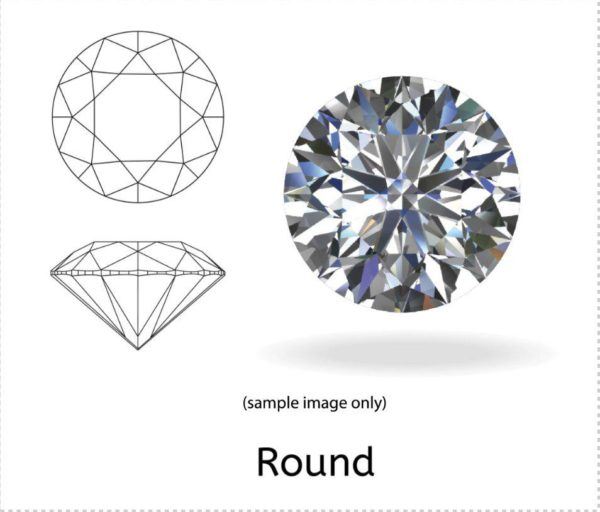 2.68 Carat Round Diamond VS1/G