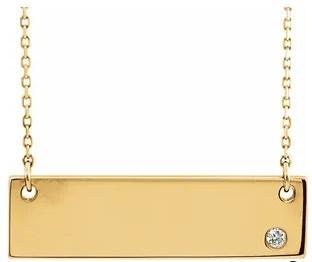 14ky diamond bar pendant